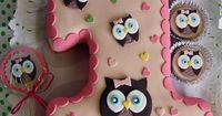 "Owl Birthday Cake Owl Cake �€"" Children's Birthday Cakes party Girl Boys Kid Kids"