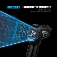 """MESTEK IR01C -50'""""�' to 550'""""�' Infrared Thermometer Hygrometer Digital Thermometer Color Screen VA Return Screen Humidity Meter 12 Points Temperature Test Area Indicate Temperature Humidity"""
