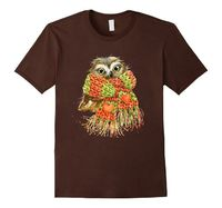 Baby Owl Scarf t-shirt SpiceTree Designs #owl #cutetshirt #winter