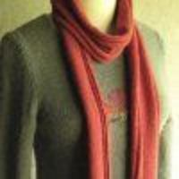 Tomato Palindrome Scarf | AllFreeKnitting.com (I think the pattern is missing something, but I can figure it out)