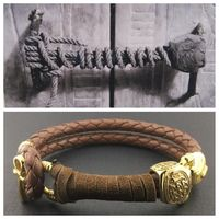 king TUT SEAL in yellow brass and 18k gold plating,Women/Men limited edition original design by Sal Knight © $39.00