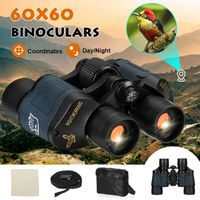 60x60 5-3000M Day/Night HD Hunting Binoculars With Compass Coordinates Outdoor Camping Waterproof Telescope