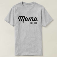 Mama Est Shirt, Mama Est T-shirt, Gift For Mom, New Mother Shirt, Gifts For New Mom, Pregnancy Announcement, Gift For Mom, Mom Shirt $16.50
