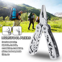 Portable Stainless Steel Combination Pliers Survival Plier Fold Pocket Screwdriver Multi Tool
