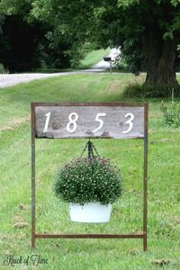 Don't settle for plain old house numbers. Get creative with some salvaged junk to display your house address in a unique way!