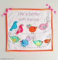 Life is Better with Friends : Mini Quilt TUTORIAL + PATTERN