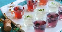 New Years Eve Champagne and Redbull Jello Shots. Check out all 3 new flavors!
