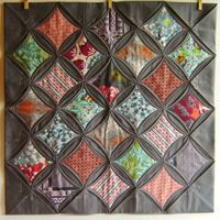 cathedral window quilt block - Google Search