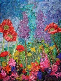 Absolutely beautiful impressionistic art quilt. Wish I was that talented.