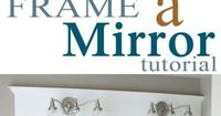 DIY- Frame a bathroom mirror in place | http://jewelryphotocollections.blogspot.com