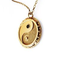 3D-Printed Yin-Yang Charm Necklace $20.00