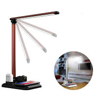 LyRay 4 in 1 Folding Desk Lamp with Fast Wireless Charger Touch Dimming for Cellphone