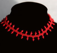 Free pattern for beaded necklaceMore Red