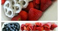 4th of July Fruit Platter Idea ~ How to Make an American Flag