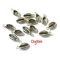 Pack of 20 Silver Colour Cowrie Shell Charms. Pendants for Hair & Jewellery Making. 14mm x 8mm £6.99
