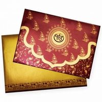 Beautifully Crafted Indian Wedding Card with Traditions and culture encased.