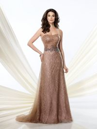 Brown Lace Mother Of The Bride Dress