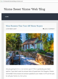 Are you going to hire a real estate agent? This is probably your best option if you don't want to answer tons of questions from buyers. https://homesweethomewebblog.wordpress.com/
