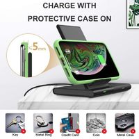 Bakeey 2 in 1 Qi 10W Fast Charging Magnetic Pad Wireless Charger Phone Holder For Headset for Smart Watch iPhone XS 11Pro Huawei P30 Pro P40 Mate 30 Xiaomi Mi10 5G