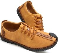 Breathable Lace-Up Leather Casual Loafers Moccasins Mens Shoes