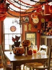 Halloween dining room, so freaking fun! I love halloween!