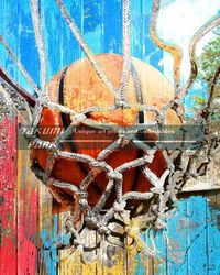 A colorful basketball art print by takumipark. A modern and unique basketball artwork photo print. #basketball #basketballart #basketballartist #sports #sportsart #sports #urban