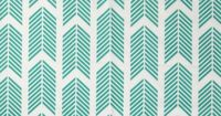 "TEAL ARROWS FABRIC Color - Teal Horizontal Repeat - 7"" Vertical Repeat - 5.5"" Fabric Width - 59"" Fabric Content - 100% cotton canvas Durable cotton ground fabric suitable for pillows, bedding, curtains and upholstery."