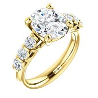 2.0 Ct Oval Diamond Engagement Ring 14k Yellow Gold $10043.67