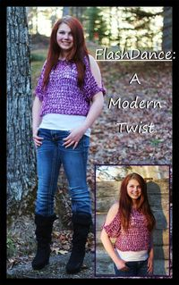Crochet Supernova: FlashDance: A Modern Twist ~ FREE SWEATER PATTERN