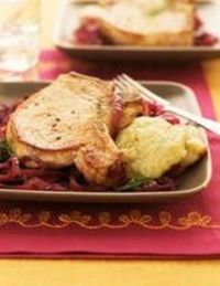 This simple pork chop recipe is cooked in the crock pot with cream of celery soup and onions along with an optional package of stuffing mix.