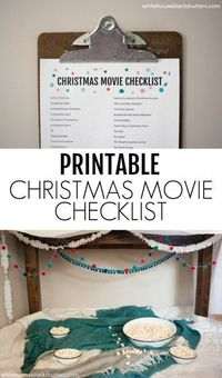 printable Christmas movie checklist
