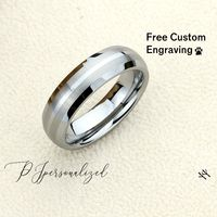 Tungsten Wedding Band Men, Custom Engraving 6mm Matte Dome Tungsten Ring Men, Tungsten Carbide Mens Promise Ring, Couple Gift $66.00