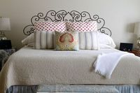 Great Idea! Faux French Head Board from a Decal