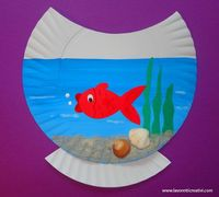 """So cute. Cheap, easy craft! Could use Goldfish crackers for the fish.....Follow for Free """"too-neat-not-to-keep"""" teaching tools & other fun stuff :)"""