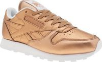 Reebok Bronze Classic Leather Spirit Womens Inspired by bold finishes, Reebok continue their collaboration with FACE Stockholm and bring this bronze beauty to their collection. The Classic Leather Spirit features a metallic upper with tonal bra http://www...