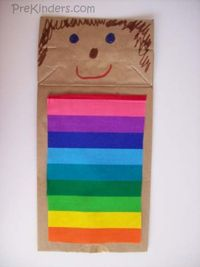 When we read the story of �€œJoseph and the Coat of Many Colors�€œ, we make this cute and easy-to-make Joseph puppet. Use a brown paper lunch bag as the puppet and