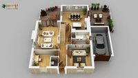 3d Rendering of House Plans By Architectural Rendering Firms Lisbon-Portugal Client:958 Christopher  We Specializes in Residential Apartment Virtual Floor Plans 3D.We are transforming your architect's straight lines into floor of top Quality Ser...