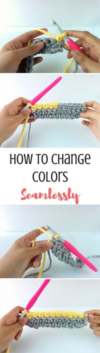 When I was working on writing my free ebook a few months ago, one of the topics I was most excited about was teaching how to change colors in crochet. It's a ve