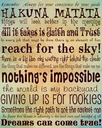 Giving up is for rookies!! My new favorite grad school slogan Fyi: they are Disney inspirational quotes: 1. Pinocchio 2. The Lion King 3. the Jungle Book 4. Peter Pan 5. Mary Poppins 6. Toy Story 7. Cars 8. Winnie the Pooh 9. Alice in Wonderland 10. The A...