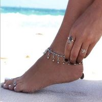 Fashion jewelry vintage foot jewelry silver color flower chain anklet gift for women girl AN65 R83.20