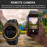 SKMEI 1250 Digital Display 50ATM Waterproof Smart Watch Remote Camera Pedometer Calorie Consumption Sports Fitness Exercise Bracelet