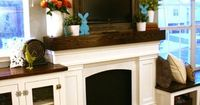 Okay, so now that I have a mantel (even if it is just a fake one!)�€� and we framed in the TV, (so it a little less obnoxious), I decided it would be fun to try a
