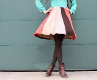 DYI Swing Skirt From Sweaters Tutorial. This site also has many other DYI tutorials like: a gathered high waist skirt, sweaters to leg-warmers & how to convert a thrift store suede jacket to a cross body purse!