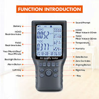 Portable Air Quality Monitor Formaldehyde HCHO TVOC Digital Detector Humidity Tester