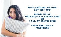 At Layla Sleep, we have the most comfortable pillow ever that has given relief from shoulder pain to many of our clients. See our website today or call us at 844-775-2952.