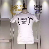 MCM Logo Style 05 Short Sleeves T-Shirt In White