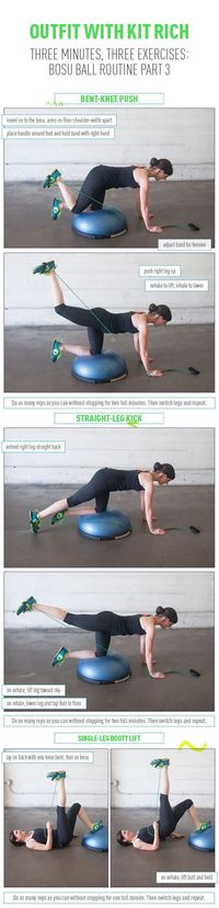 Three Moves to Firm and Lift Your Booty! Bosu Routine Part 3