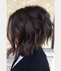 The bob (and lob) trend has been around for a little while, but what we are loving even more these days is the inverted choppy bob. With its shorter back, this