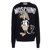 Moschino Rat A Porter Womens Long Sleeves Sweater Black