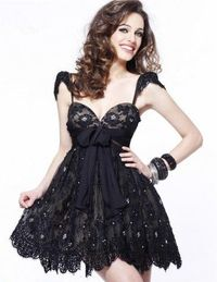 Cheap Short Black Nude Lace Sweetheart Homecoming Dress